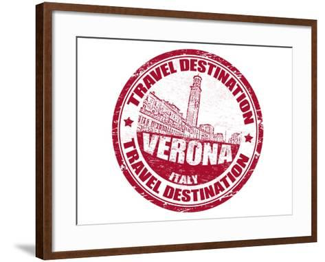 Verona Stamp-radubalint-Framed Art Print