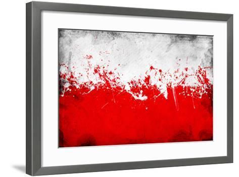 Poland Flag-igor stevanovic-Framed Art Print