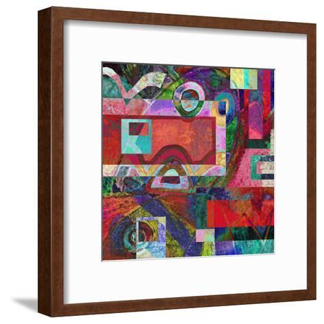 Abstract Digital Painting, Colorful Graffiti Collage-Andriy Zholudyev-Framed Art Print