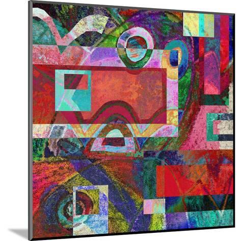 Abstract Digital Painting, Colorful Graffiti Collage-Andriy Zholudyev-Mounted Art Print