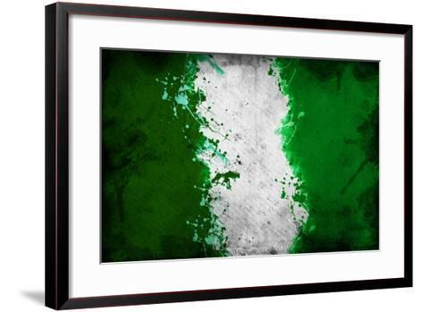 Nigerian Flag-igor stevanovic-Framed Art Print