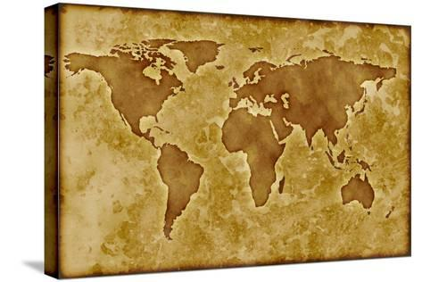 Old World Map-Arcoss-Stretched Canvas Print