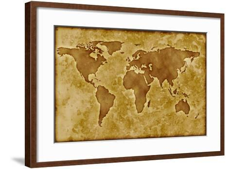 Old World Map-Arcoss-Framed Art Print