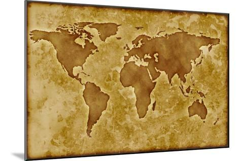 Old World Map-Arcoss-Mounted Art Print