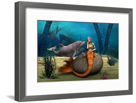 Sad Mermaid-Vac-Framed Art Print