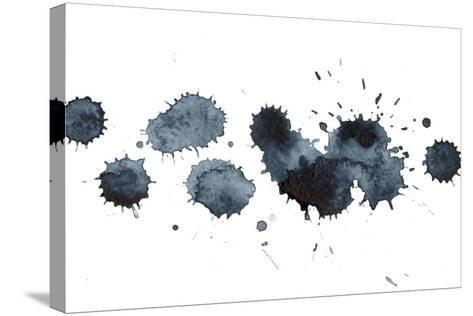 Black Ink Stains-ninanaina-Stretched Canvas Print