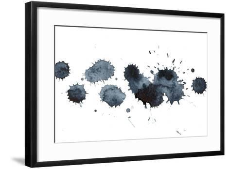 Black Ink Stains-ninanaina-Framed Art Print