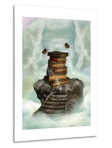 Books In The Sky-justdd-Metal Print