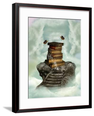 Books In The Sky-justdd-Framed Art Print