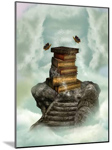Books In The Sky-justdd-Mounted Art Print