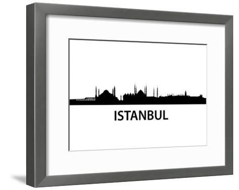 Skyline Istanbul-unkreatives-Framed Art Print