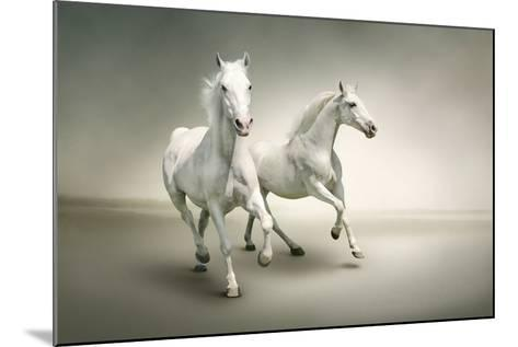 White Horses-varijanta-Mounted Art Print