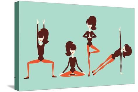 Yoga Workout-yemelianova-Stretched Canvas Print