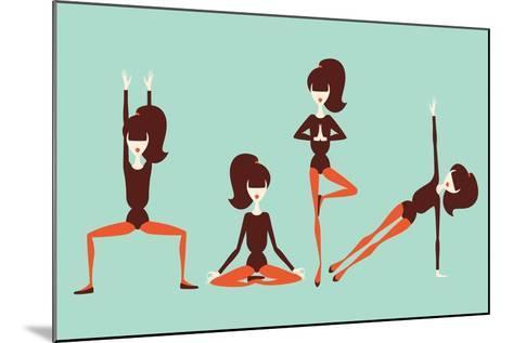 Yoga Workout-yemelianova-Mounted Art Print