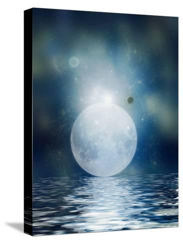 Moon Reflection-justdd-Stretched Canvas Print