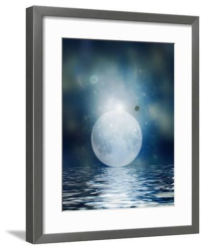 Moon Reflection-justdd-Framed Art Print