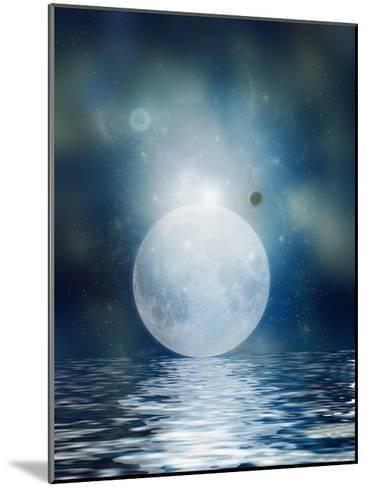 Moon Reflection-justdd-Mounted Art Print