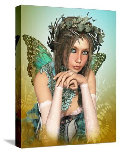 Butterfly Girl-Atelier Sommerland-Stretched Canvas Print