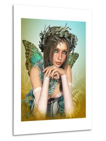 Butterfly Girl-Atelier Sommerland-Metal Print