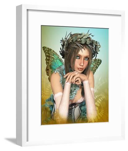 Butterfly Girl-Atelier Sommerland-Framed Art Print