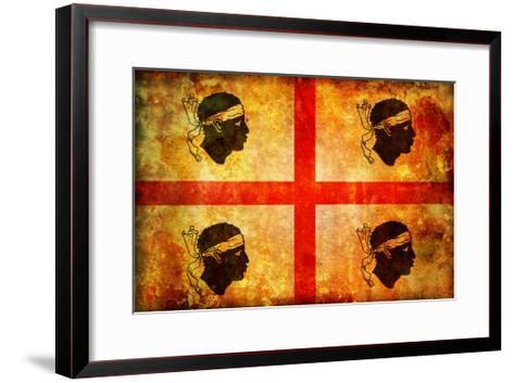 Sardinia Flag-michal812-Framed Art Print