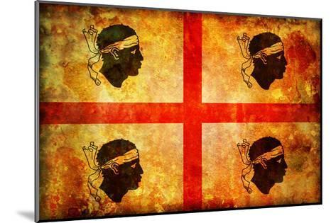 Sardinia Flag-michal812-Mounted Art Print