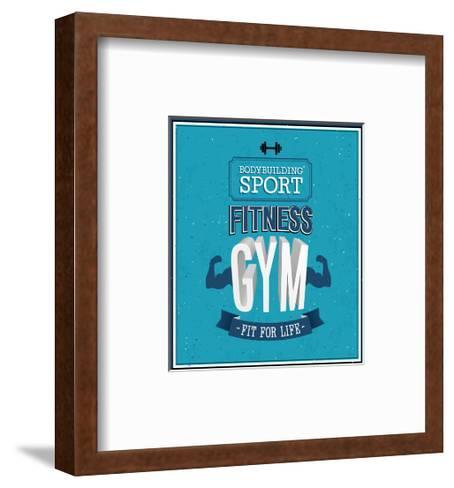 Fitness Gym Design-MiloArt-Framed Art Print