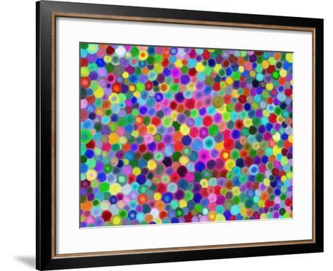 Multicolored Circles-Tan-tra-Framed Art Print