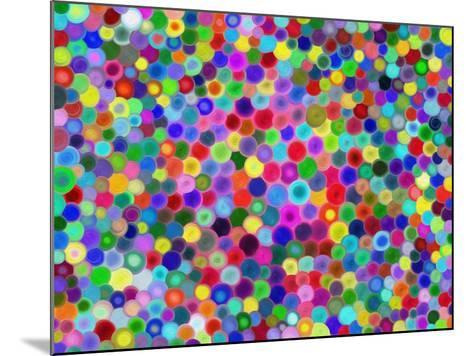 Multicolored Circles-Tan-tra-Mounted Art Print