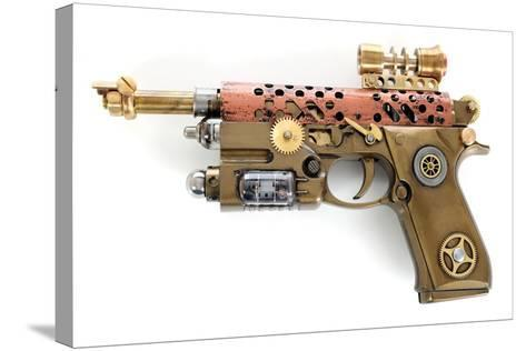 Steampunk Hand Cannon-3355m-Stretched Canvas Print