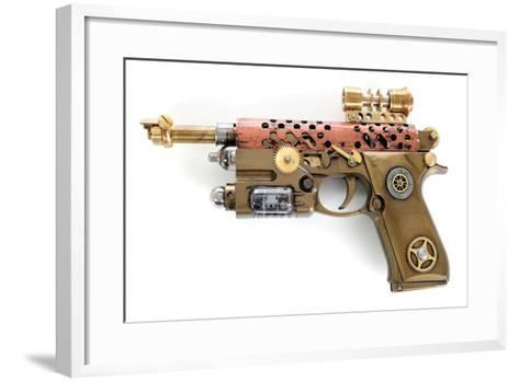 Steampunk Hand Cannon-3355m-Framed Art Print
