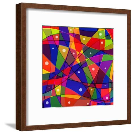 Stained-Glass Window-stekloduv-Framed Art Print