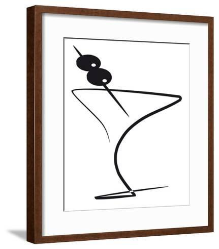 Cocktail With Olives-ocphoto-Framed Art Print