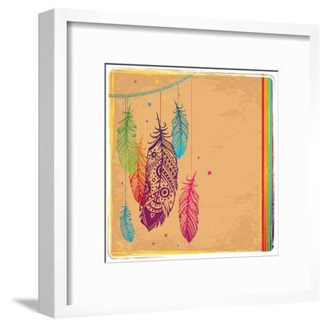 Ethnic Dream Catcher-transiastock-Framed Art Print