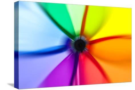 Abstract Color Wheel- surpasspro-Stretched Canvas Print