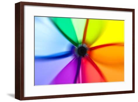 Abstract Color Wheel- surpasspro-Framed Art Print