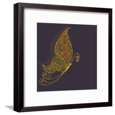 Abstract Butterfly-Rouz-Framed Art Print