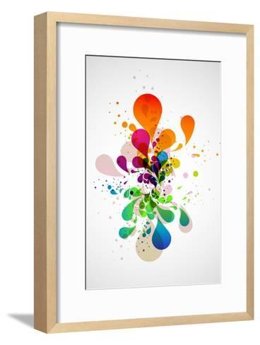 Abstract Background-theromb-Framed Art Print