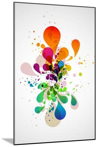 Abstract Background-theromb-Mounted Art Print