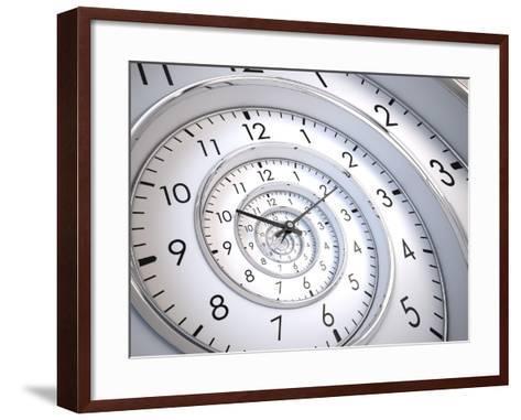 Infinity Time Spiral-Sashkin-Framed Art Print