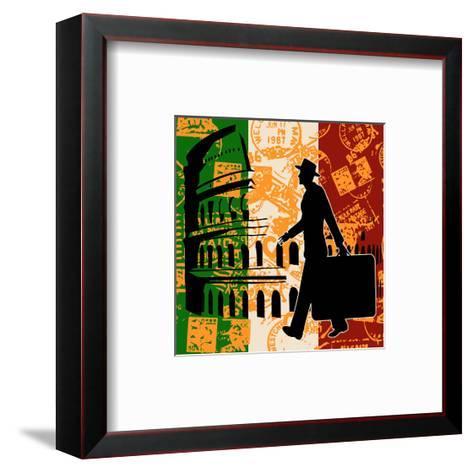 Italian Travel Flyer-Petrafler-Framed Art Print