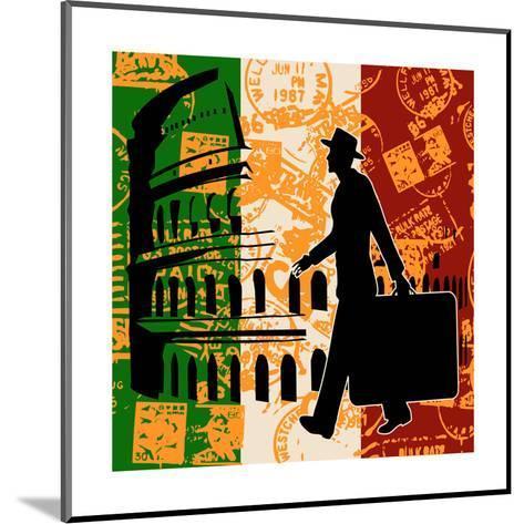 Italian Travel Flyer-Petrafler-Mounted Art Print