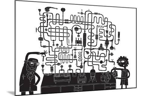 Laboratory Maze Game-vook-Mounted Art Print