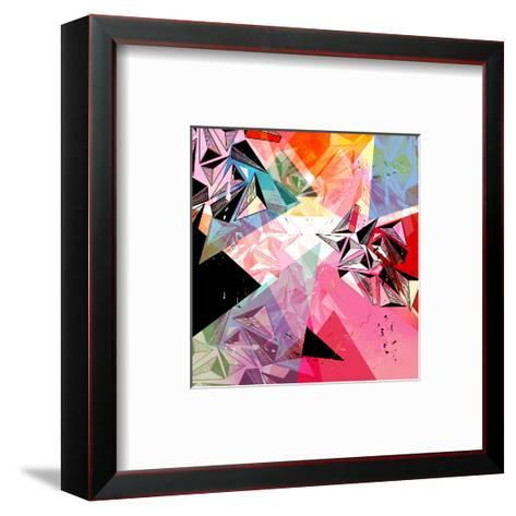 Abstract Background-Tanor-Framed Art Print