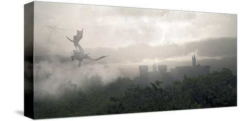 Misty Fantasy Forest- Algol2-Stretched Canvas Print