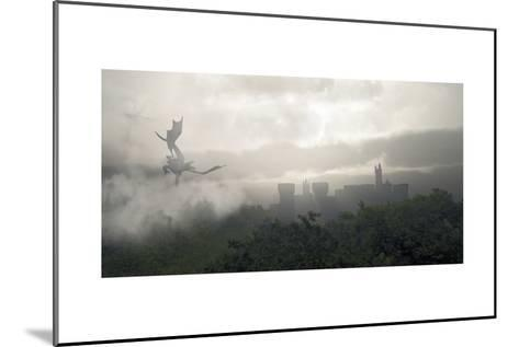Misty Fantasy Forest- Algol2-Mounted Art Print