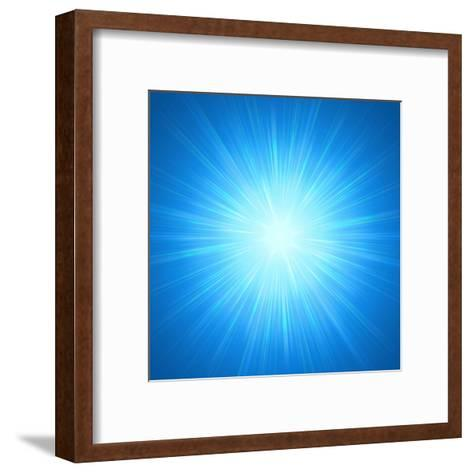 Shining Blue Lights-marinini-Framed Art Print