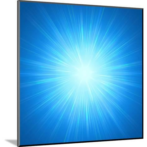 Shining Blue Lights-marinini-Mounted Art Print