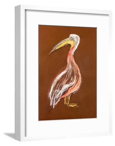 Sketch Of A Pelican-Boyan Dimitrov-Framed Art Print
