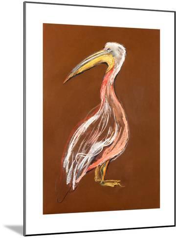 Sketch Of A Pelican-Boyan Dimitrov-Mounted Art Print